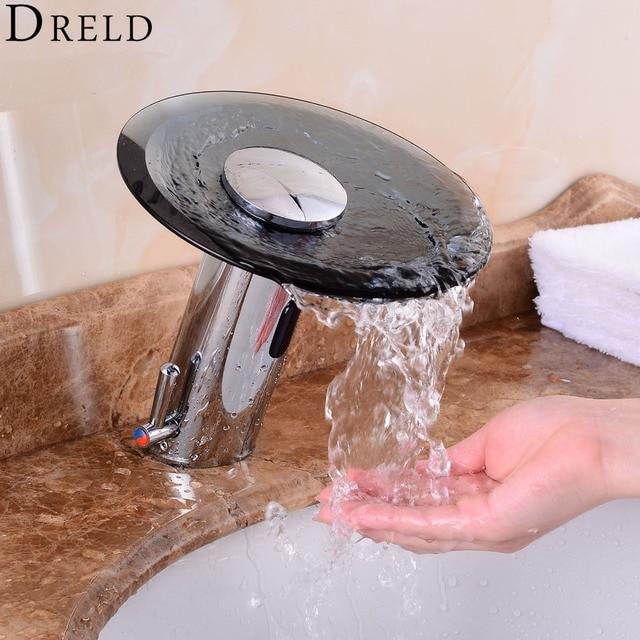 Automatic Sensor Faucet Chrome Bathroom Faucet Hand Touchless Tap ...
