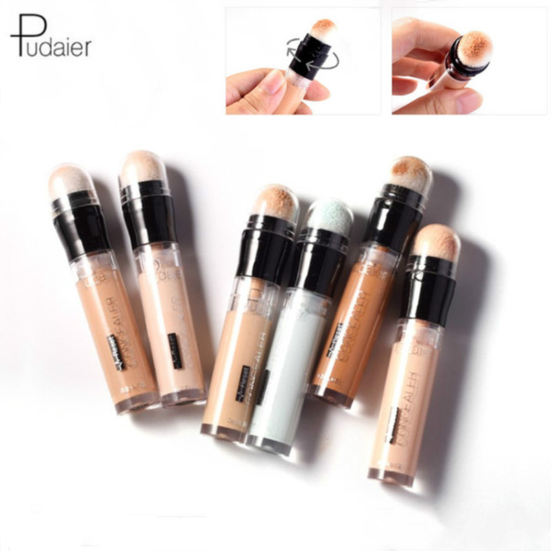 Pudaier 6pcs/Kit Concealer Stick Oil Control Concealer Pen Corrector Contour Anti Dark Circle Eye Bags Remover Deep Repair Skin image