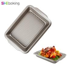 Shebaking Stainless Steel Bread Pizza Baking Tray Chicken BBQ Mold Pans Pie Biscuit Cake DIY Kitchen Gadgets