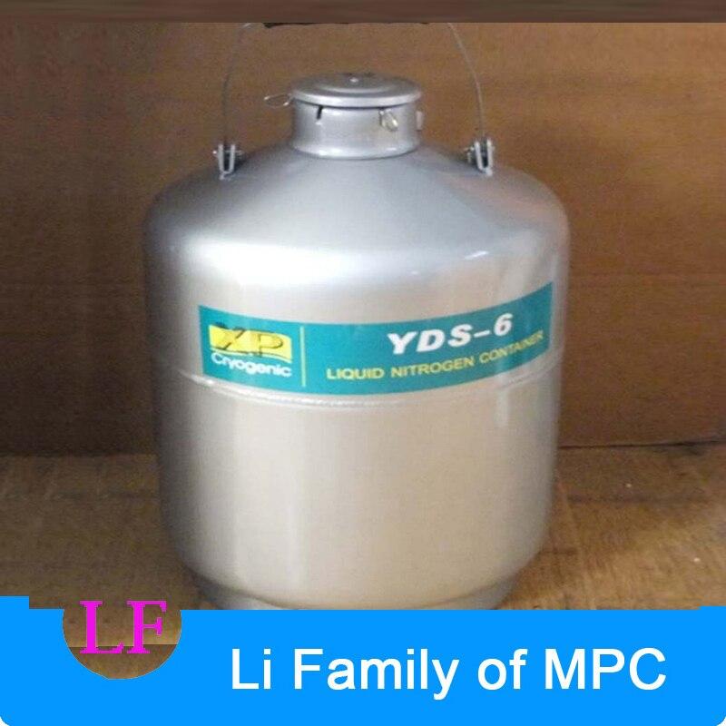 Conteneur cryogénique en alliage d'aluminium de YDS-6 conteneur de stockage d'azote liquide réservoir d'azote liquide