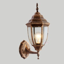 LukLoy Outdoor Wall Lamp Waterproof Simple Retro Industrial Iron Wall Light Restaurant Rorch Aisle Home Door Wall Corridor