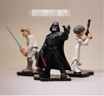 Alta qualidade brinquedos figura Luke Skywalker Darth Vader de Star Wars Princesa Leia Toy Figuras Modelo Boneca para a coleta de presentes 8-10 cm