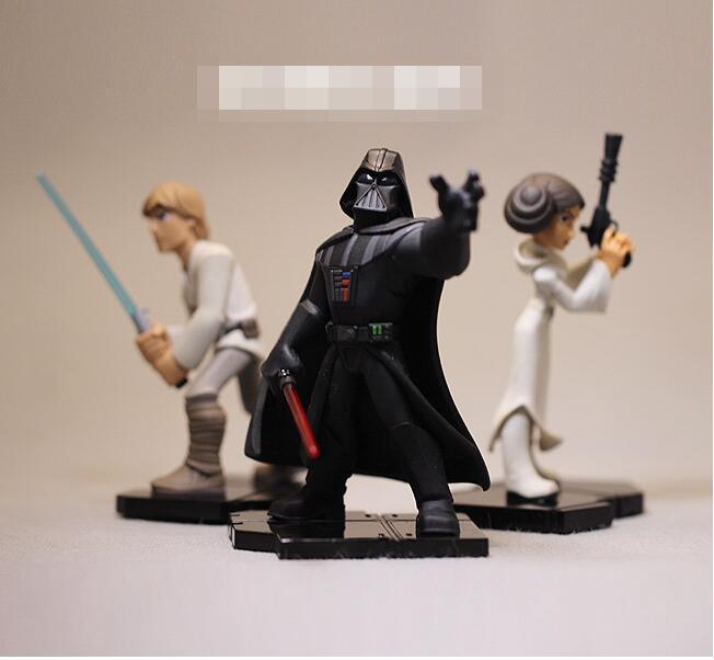 Figura de Star Wars de alta calidad juguetes Darth Vader Luke Skywalker Princesa Leia figuras muñeco modelo de juguete para regalos de colección 8-10 cm