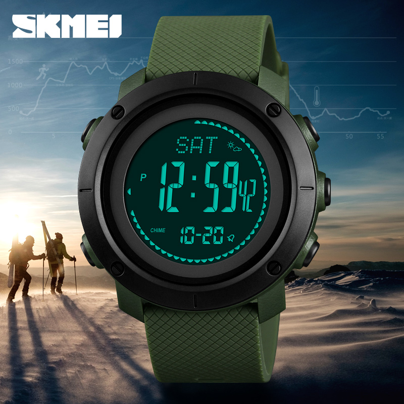 SKMEI Fashion Sports Watches Men Women Outdoor Electronic Pedometer Pressure Compass Alarm Wristwatch Relogio Masculino 1427-in Digital Watches from Watches    3
