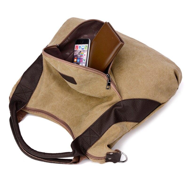 dc3ca92203df1 2018 Large Pocket Casual Tote Women's Handbag Shoulder Crossbody Handbags  Canvas Leather Capacity Besigner Bags For Women Tarvel | BillMySale