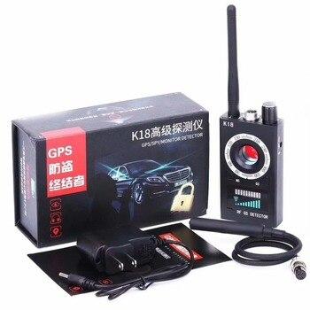 1 MHz-6.5 GHz K18 multi-fonction Anti-espion détecteur caméra GSM Audio Bug Finder GPS Signal lentille RF Tracker détecteur magnétique