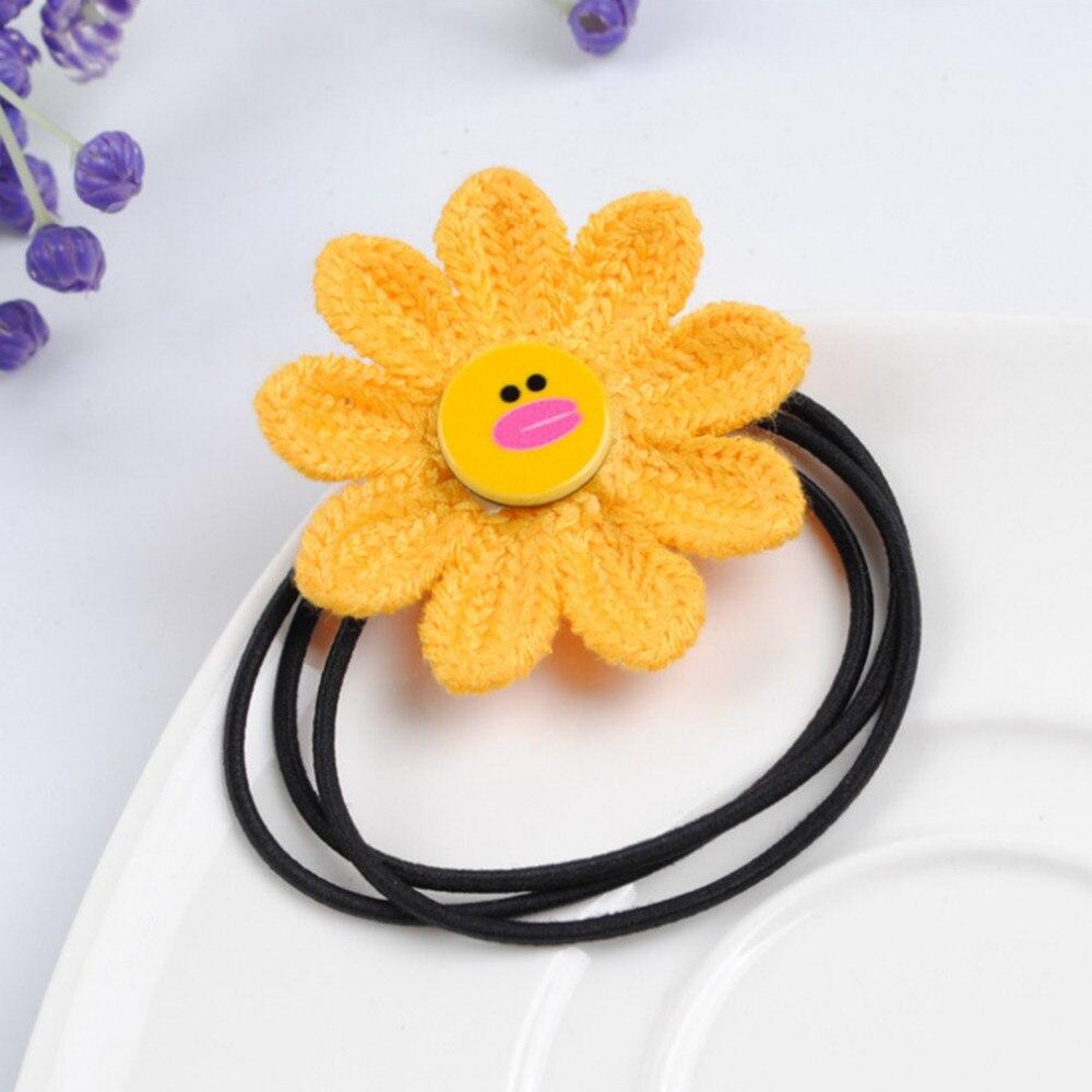 Cute Sunflower Hair Rope Elastic Hair Bands Scrunchies Girls Baby Hair Ties Rubber Band Hair Braiders 4