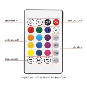 Image 5 - Akıllı E27 12W ampul LED ampul RGB ışık kablosuz Bluetooth ses hoparlör müzik çalma dim lamba ile 24 anahtar uzaktan kontrol