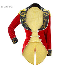 Charmian Halloween Cosplay Costume Retro Red Velvet Tailcoat Jacket Vintage Swallow-tailed Coat Carnival Costume(China)