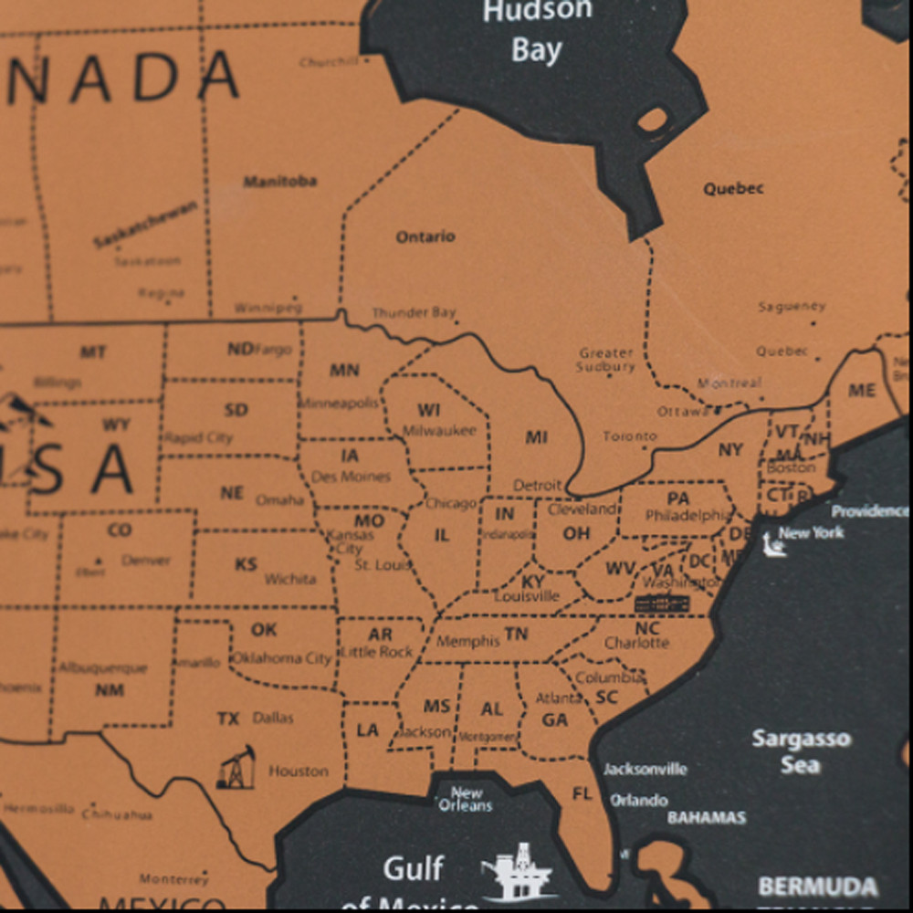 USA Magnetic Puzzle Map United States Maps PerryCastañeda Map - Personalized us travel map