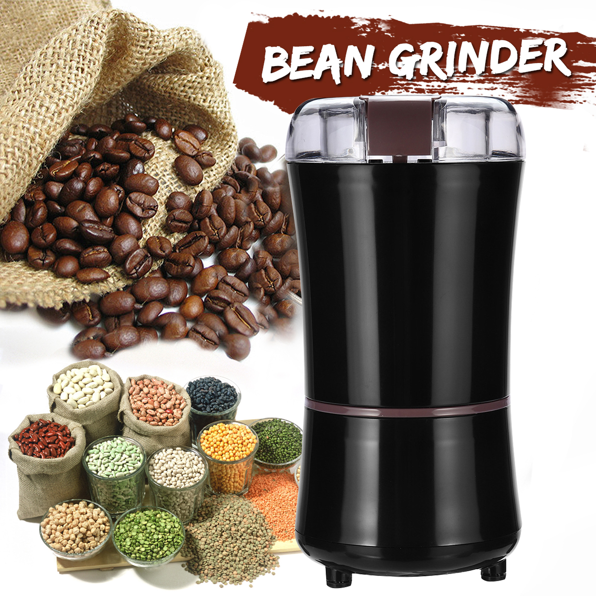 1Pcs EU Plug Coffee Grinder Universal Multi-functional Herbs/Spices/Nuts/Grains/Coffee Bean Safe Grinding machine худи print bar флаг азербайджана