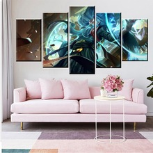 5 Panel LOL League of Legends Zilean Game Canvas Printed Painting For Living Room Wall Art Decor HD Picture Artworks Poster