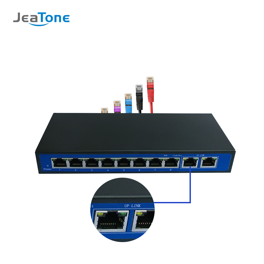 JeaTone Internet Switch Without POE For IP Video Door Phone Intercom Free Shipping