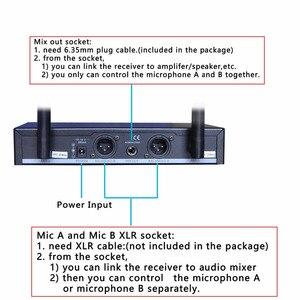 Image 4 - FREEBOSS FB U10 2 Way черный серебристый золотой металлический Ручной беспроводной микрофон для вечерние НКИ Караоке микрофонная система