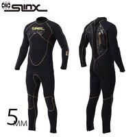 SLINX Марка 5 мм неопрена цельный Мокрые одежды спорта людей Для мужчин Frogman подводное погружение Diver гидрокостюм зима Плавание Surf подводное пл