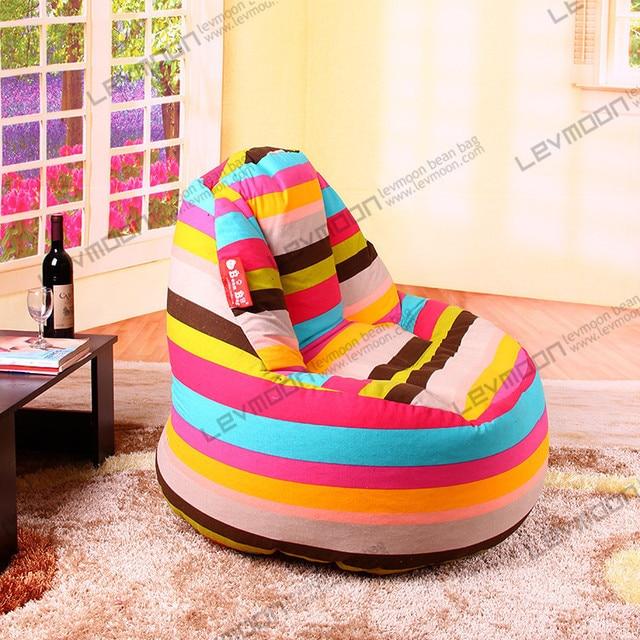 Zebra Print Bean Bag Chair White Side Free Shipping Stripeda 100cm Diameter Bag100 Cotton Canvas