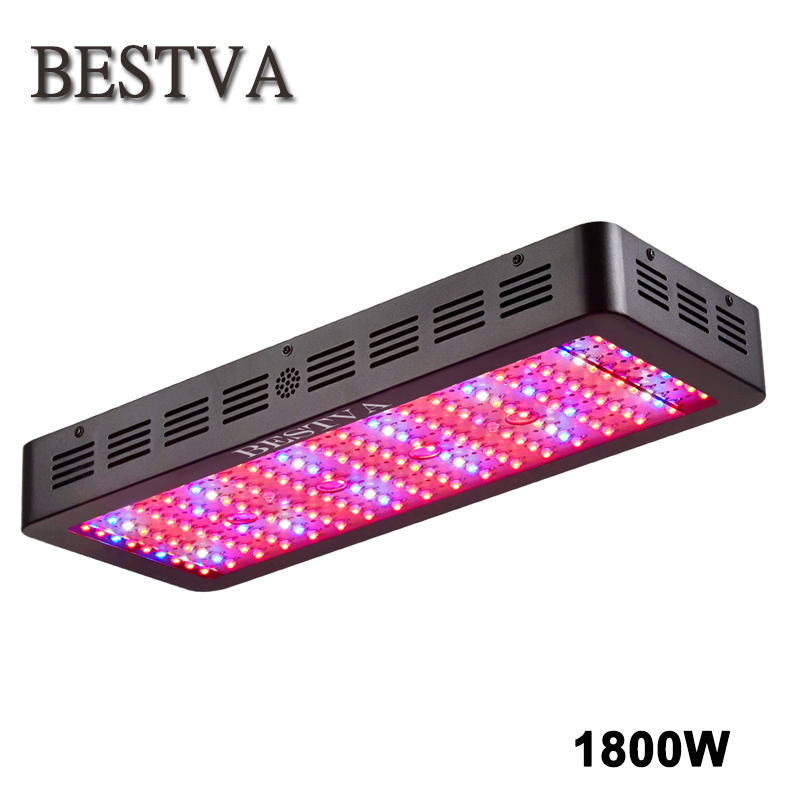 BestVA Black 1800W Double Chips Full Spectrum High Yield LED Grow Light For Indoor plants Hydroponics