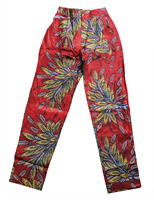 Vintage African Print Pencil Pants Trousers With Pockets Ankara High Waist Pants