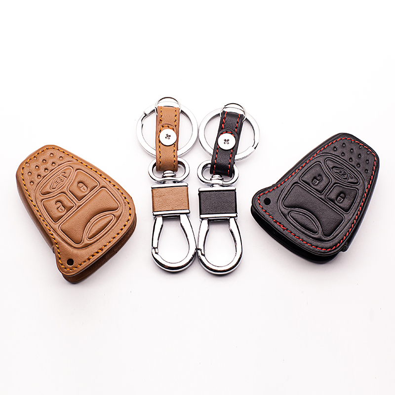 19c2acde595 Hot Sale Genuine Leather Keys Case Cover Car Keys Wallet Bag For Jeep  Wrangler Jeep Compass Jeep Liberty Car Key Dust Collector