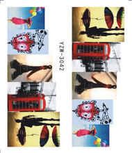 Beautiful Romantic Sticker Red Skirt Girl Nail Art Designs Manicure Water Transfer Decals Tips Manicure(China)