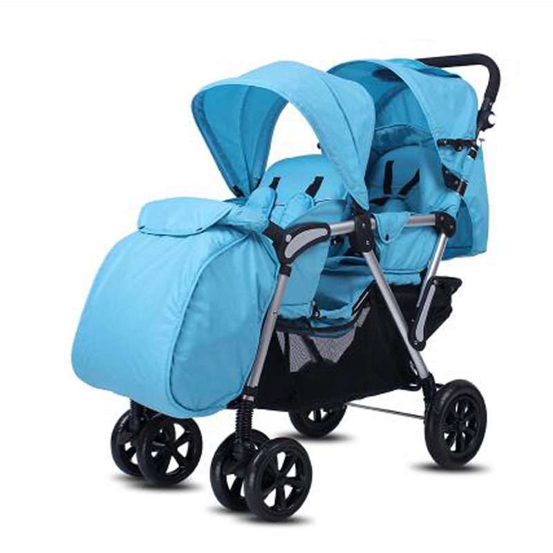 Baby Twins Stroller With Foot Cape And Rain Cover baby foot
