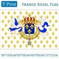 Королевский стандарт Королевства Франции 1643-1765 флаг Ensign 3ft x 5ft полиэстер баннер Летающий 150*90 см пользовательский флаг на открытом воздухе