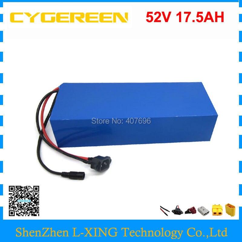 Frete grátis 1000 W 52 V bateria De Lítio 51.8 V bateria 17.5AH 52 V 17.5AH 18AH uso da bateria ebike samsung celular 3500 mah 30A BMS