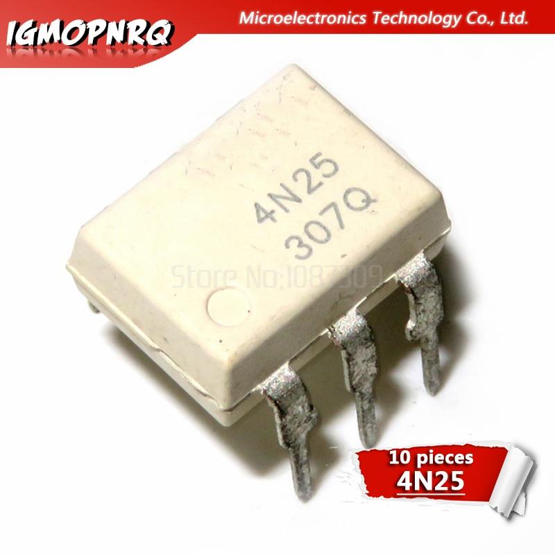 10pcs 4N25 DIP6 Photoelectric Coupler New Original