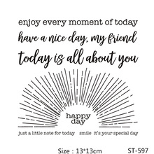 ZhuoAng Best Wishes Have a nice day Clear Stamps/Seals For DIY Scrapbooking/Card Making/Album Decorative Silicone Stamp Crafts