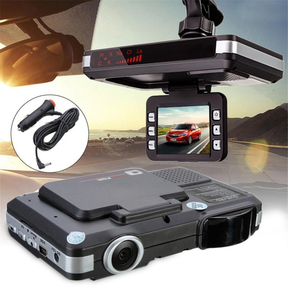 Détecteur Anti-radar voiture DVR caméra détection de débit 2 en 1 720 P dash cam détecteur de voiture système d'alarme enregistreur vidéo caméscope