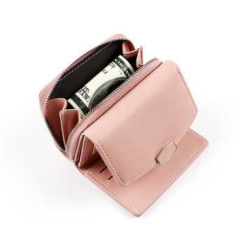 New PU Leather Women Wallet Fashion Coin Purse For Girls Female Small Portomonee Lady Perse Money Bag Card Holder Mini Clutch