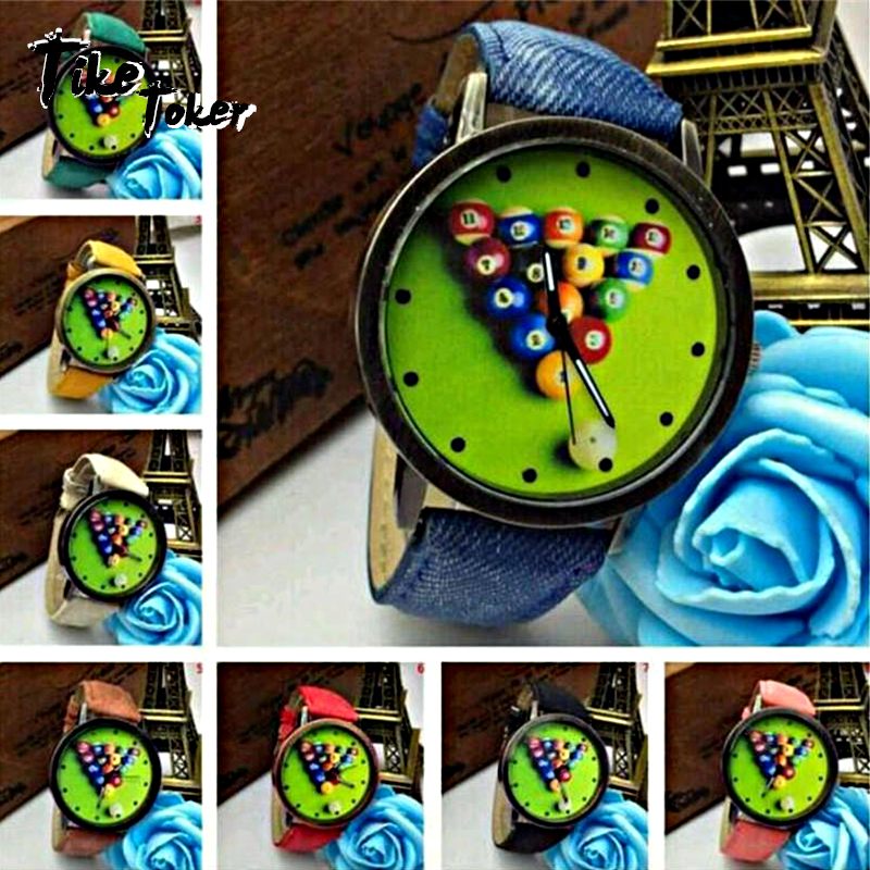 TIke Toker Cindiry Colorido Imprimir Billar Mujeres Relojes Señoras - Relojes para hombres