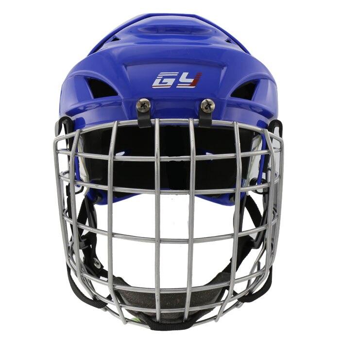 Prix pour LIVRAISON GRATUITE Spécialité PP EVA casque de hockey sur glace avec masque casque de hockey sur gazon CE approuvé