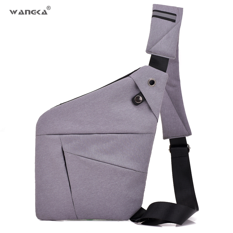 Us 13 09 45 Off Fashion Casual Men Chest Bag Anti Theft Travel Single Shoulder Waterproof Nylon Sling Crossbody Bags For Male Short Trip In