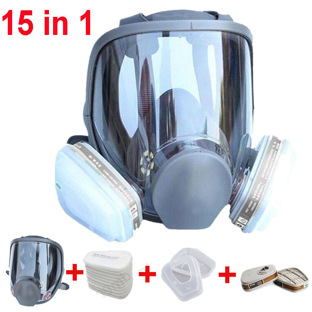 Large Size Full Face 6800 Gas Mask Facepiece Respirator Painting Spraying for painting chemical Laboratory medical Safety mask 9 in 1 suit gas mask half face respirator painting spraying for 3 m 7502 n95 6001cn dust gas mask respirator