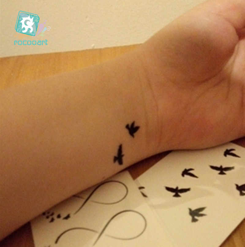 25 Different Classical Tribal Small tattoo fake body Temporary  Black bird,English,Birdcage Arabic Tatoo sticker For Men