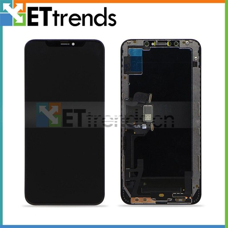 2 шт 100% Оригинал Восстановленное ЖК дисплей Экран для iPhone XS MAX преобразователь изображений для сенсорного дигитайзера Стекло Экран сборки DHL