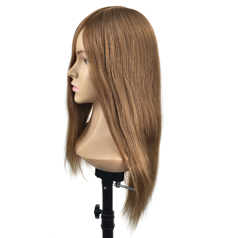 Crno 20Inch frizerske lutke glave ženski frizerski trening glavu s - Njega kose i styling - Foto 6