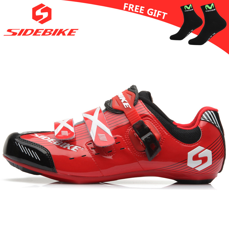 sidebike road cycling shoes men racing shoes road bike pedals self-locking bicycle sneakers breathable professional athletic red west biking bike chain wheel 39 53t bicycle crank 170 175mm fit speed 9 mtb road bike cycling bicycle crank