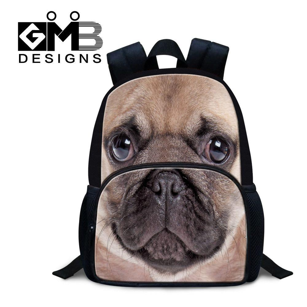 d47ad444674d US $24.49 30% OFF|Dispalang 3 8 years old small children felt backpack pug  dog print school bag mini bagpack for kids lightweight backpacking bag-in  ...