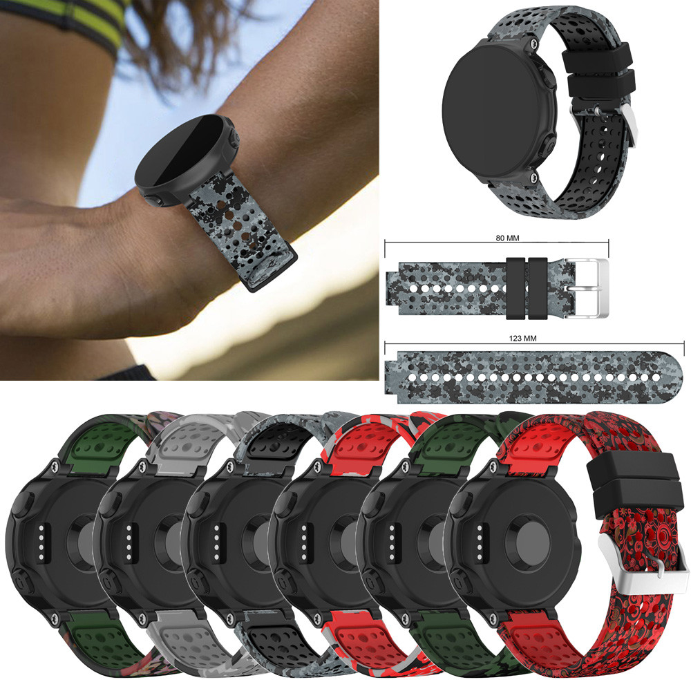 15MM Replacement Silicagel Soft Band Strap For Garmin Forerunner 235 GPS Watch 22mm soft silicone strap replacement watch band for garmin forerunner 735xt watch correas de reloj