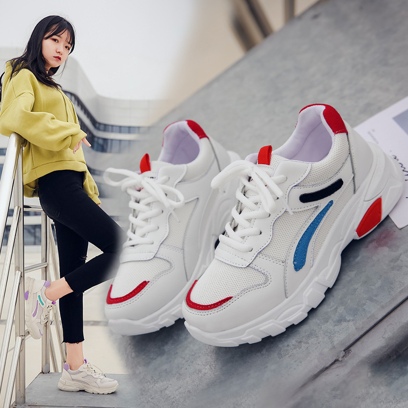 Femmes Basket baskets décontracté plate-forme baskets femme femmes chaussures 2019 vulcaniser chaussures Chunky baskets