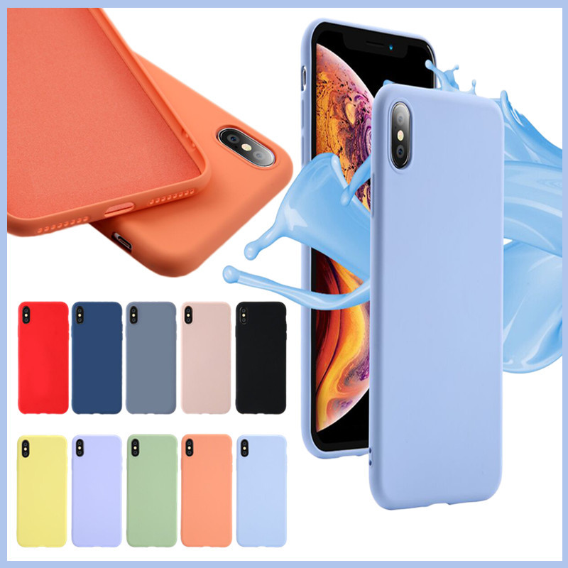 Image 3 - Soft Liquid Silicone Phone Case for iphone X XS MAX XR 7 8 6 6S Plus Soft Gel Rubber Shockproof Cover Full Protective back case-in Fitted Cases from Cellphones & Telecommunications