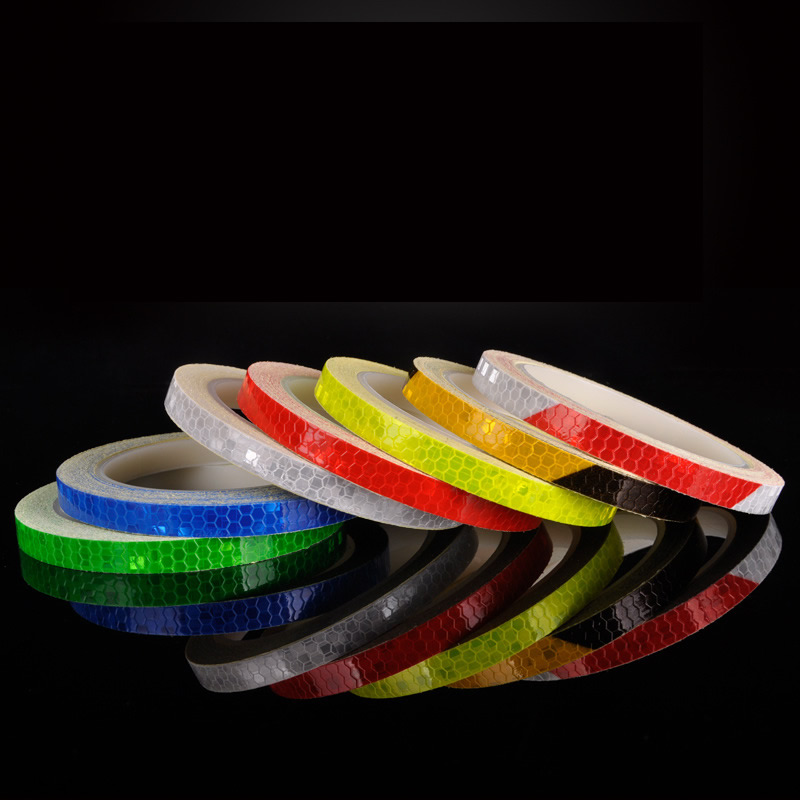 Car-styling Night Magic Red Blue Yellow Warning Reflective Strip Tape 1cm*8m For Car Body Motorcycle Decoration Car Sticker