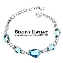 Luxury Bracelets & Bangles Pulseras Pulseira Feminina For Women Crystals from Swarovski Bijoux Charm Jewelry Top Quality