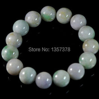 shitou 00575 Green Lavender Certificate 100% Natural Grade A Jade Jadeite Beads Bracelet
