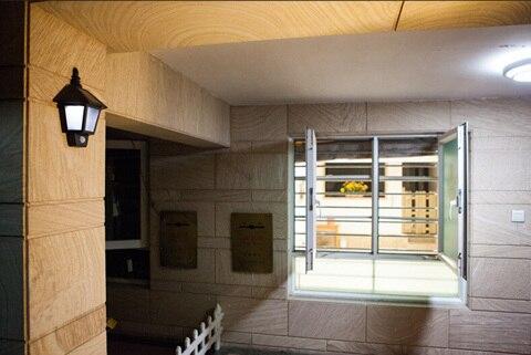 3 LED Solar Lights PIR Body Motion Sensor Wall Lights Corridor Garden Yard Garage  Door Lamp