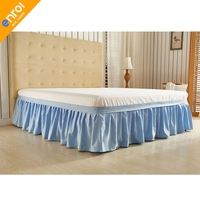Bed Skirt Wrap Around Elastic Bed Skirt Without Bed Surface Twin / Queen/ King Size 40cm Height Cheap High Quality