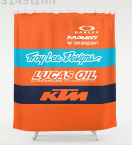 Waterproof Team KTM Lee Designs Shower Curtain Mat Print