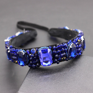 Image 2 - Luxury heavy color rhinestone crystal wild headband  Baroque Heavy Industry Luxury Geometric Color Rhinestone Headband 874